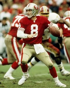 STEVE YOUNG 8X10 PHOTO SAN FRANCISCO 49ers PICTURE NFL FOOTBALL VS REDSKINS
