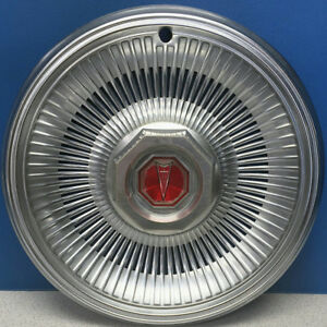 "ONE 1981 Pontiac LeMans # 5066C 14"" Chrome Hubcap / Wheel Cover # 10010062 USED"