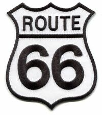 Route 66 Embroidered Iron On PATCH **Free Shipping** road sign rolling stones