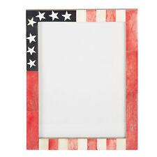 USA American Flag Picture Photo Frame Souvenirs Handmade Bone Frames Size - 6x8