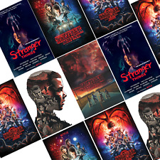 Stranger Things Posters, Tv Series Show, Wall Art Decor Print, A4 or A3 Options