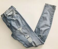 Aeropostale High Waisted Jegging Ripped Distressed Size 00 ✨✨✨EUC!