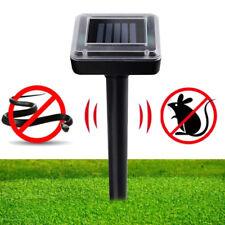 Ultrasonic Solar Power Cat Dog Mouse Repeller Animal Chaser Deterrent Repellent