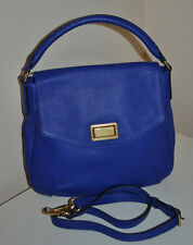 New MARC BY MARC JACOBS Hobo Logo Blue Bauhaus Leather Crossbody Bag Tote Purse