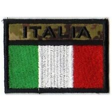[Patch] BANDIERA ITALIA mimetico softair cm 6,5 x 4,5 toppa ricamata ITALY -228