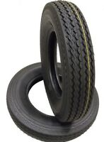 2 (TWO) 530-12 5.30-12 8 PLY RATED LOAD D T Hiway Speed Trailer Service Tires