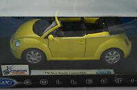 1:18 scale Welly VW NEW BEETLE Convertible Yellow