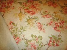 "Hydrangea & Roses Quilted Cotton Blend Fabric Richloom Fabric .62Yd L  x 54""W"