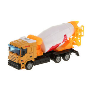 1:64 Scale Diecast Cement Mixer Truck Model Vehicle Car Toy for Kids Alloy