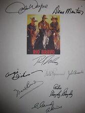 Rio Bravo Signed Film Script X9 John Wayne Dean Martin Ricky Nelson Dickinson RP