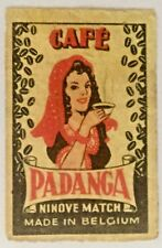 Vintage Padanga Coffee Matchbox Label  Mini 40x26mm
