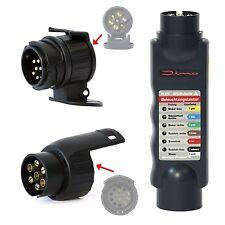 DINO Beleuchtungstester SET Anhänger Tester 12V 7/13-polig Prüfgerät Adapter