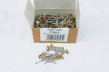 Stainless Steel UPVC Poly Top Pins Nails Plastic Headed Light Oak Box 250 x 30mm
