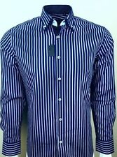 Cotton Blend Single Cuff No Striped Formal Shirts for Men