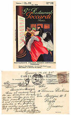 A5676) ILLUSTRATORE CAPPIELLO, RESTAURANTS POCCARDI PARIS. VIAGGIATA NEL 1925.