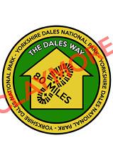 The Dales way Yorkshire sticker footpath Malham Grassington Cumbria Windermere