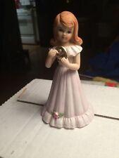 Enesco Growing Up Girls-Brunette Hair Age 9 Birthday Figurine