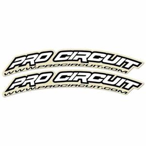 Pro Circuit  Mx Factory White Graphics Motocross Bike Front Fender Decal Kit