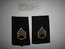 Pair Of US Army STAFF SERGEANT Rank (Female) Epaulets With Original Label