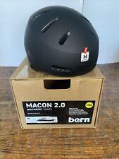 Bern Macon 2.0 Cycling Bike Outdoor Multisport Helmet Matte Black Medium NWT