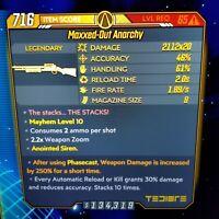 (PS4) Borderlands 3 [Level 65/Mayhem 10] Anarchy x20 (250%PHASECAST)