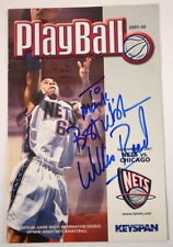 Willis Reed Signed PayBall 2001-02, Official NJ Nets Game Night Program
