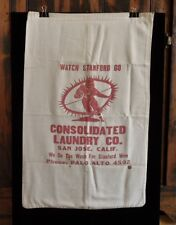 >Old 1940's Stanford Indians FOOTBALL TEAM LAUNDRY BAG *We Do The Wash*