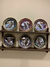 New listing Franklin Mint Royal Doulton Freedom Eagle Plates. Ltd Edition. 6 Plates + Rack