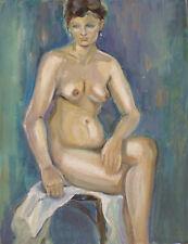 Marcel HORCLOIS (1914-2011) Huile sur panneau  Nu / Fauvist / Fauvism / Fauviste