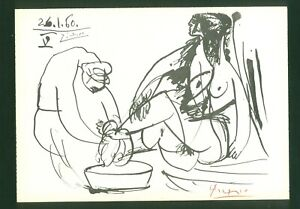 Pablo Picasso Old Lithograph - Hand signed in pencil -  NUDE
