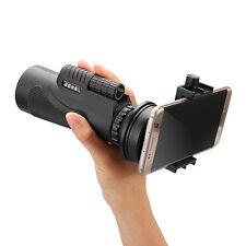 Universal 12x50 Hiking Concert Camera Lens Monocular For Smartphone+phone holder