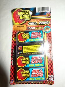 Jaru SUPER BANG Rolled 1000 CAP Toys 4 ROLLS 250 Per Roll NEW SEALED