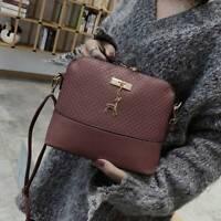 Women Handbag Black Leather Shoulder Tote Purse Lady Fashion Bag