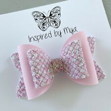Hair Clip Girls Bow Hair Accessories Large Faux Leather Glitter