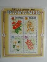 Discount Stamps : BURUNDI 1992 FLOWERS FLORAL MS#1511 MNH SOUVENIR SHEET