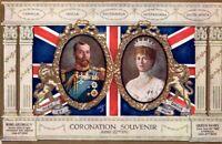 Coronation Souvenir Postcard,  King George V & Queen Mary  1911 unposted. cc11