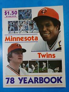 1978 MINNESOTA TWINS YEARBOOK ROD CAREW NM