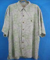 Shirt Silk Hawaiian XL Aloha Boca Classics Beach Tropical Blue Green Men's