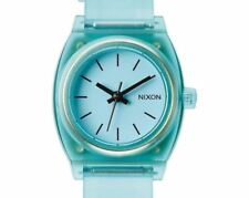 PRE-OWNED Nixon Ladies The Small Time Teller P Translucent Mint Watch A425-1785