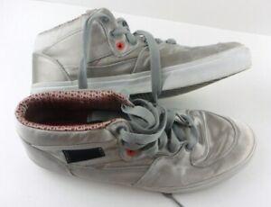 Vans Half Cab Men's Size 13 M Silver Skate Shoes Fashion mid top Red black speck