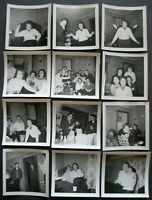 Lot Vintage Snapshots 1950s- FRIENDS PARTYING HANGING OUT SMOKING & DRINKING