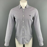 BURBERRY BRIT Size S Blue Checkered Cotton Long Sleeve Shirt