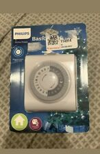 Philips 24Hr 2 Outlet Plug In Mechanical Timer Polarized White. Free Shipping.