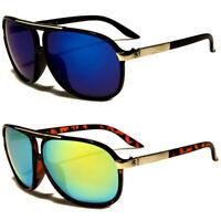 Aviator Sunglasses Vintage Mirror Lens New Men Women Fashion Frame Retro Black