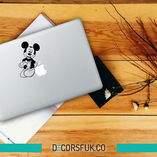 MICKEY MOUSE MACBOOK adesivi in vinile nero | Laptop Adesivi | MacBook Decalcomanie