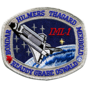 NASA Space Shuttle Discovery  STS-42 'IML-1' Mission Embroidered Patch