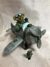 Boyds Bears Treasure Box ~ Percy's Airplane w/ Wings Mcbibble