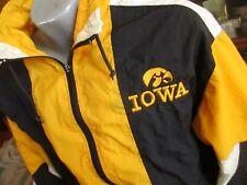 XL True Vtg 80's CLASSIC IOWA HAWKEYES NYLON THIN WINDBREAKER Jacket MV SPORT