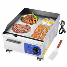 1500w 14 Electric Countertop Griddle Flat Top Commercial Restaurant Bbq Grill