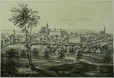 Tonlithografie 1843 - KUTTENBERG / KUTNÁ HORA Gesamtansicht - Ziegler